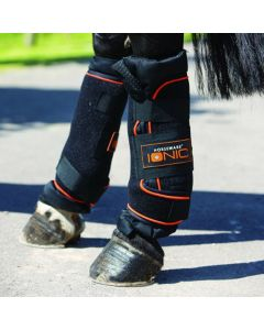 Horseware Rambo Ionic Stable Boots Black/Orange Full