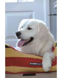 Horseware Rambo Dog Bed Whitney Stripe Gold