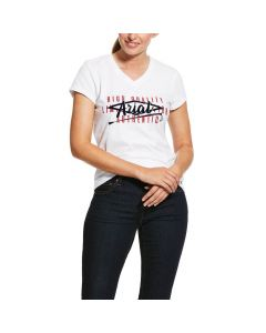Ariat Ladies Crop Logo Tee