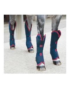 Shires Travel Boots Navy/Red/White