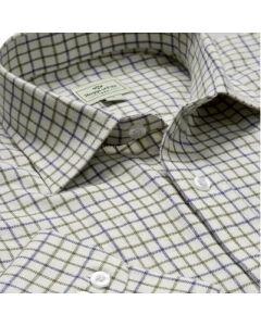 Hoggs of Fife Tatterstall Shirt Navy/Olive