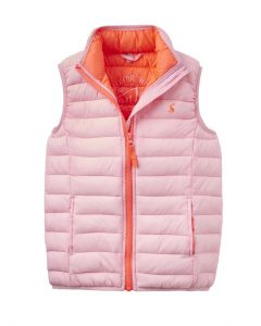 Joules Jnr Croft Padded Gilet Pink Rose