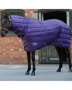 WeatherBeeta ComFiTec Channel Quilt Heavy Combo Stable Rug 400g Purple