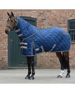 WeatherBeeta ComFiTec Diamond Quilt Medium Stable Rug 250g Blue
