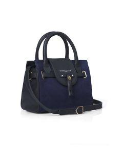 Fairfax & Favor Ladies Mini Windsor Handbag Suede Navy