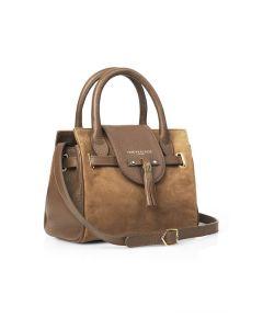 Fairfax & Favor Ladies Mini Windsor Handbag Suede Tan