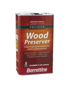 Barrettine Premier Wood Preserver Dark Brown