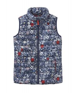 Joules Jnr Croft Padded Gilet French Navy Ria Ditsy