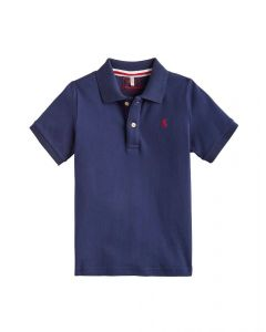 Joules Junior Woody Polo Shirt French Navy
