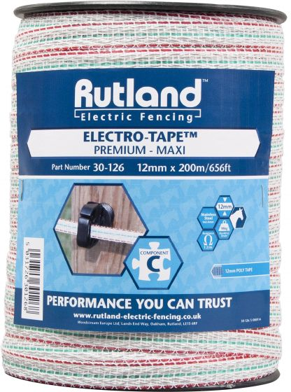 Rutland 12mm Maxi Electro-Tape White