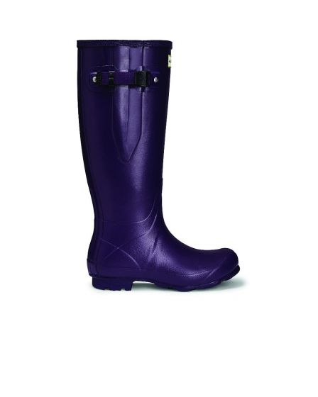 Hunter Womens Norris Field Side Adjustable Wellington Boot Dark Iris