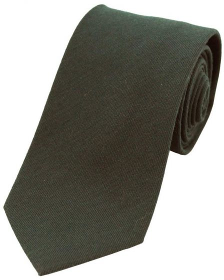 Sax Mens Wool Plain Tie Moss Green