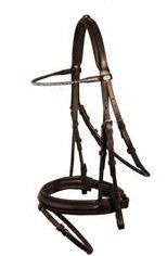 Schockemohle London MP Bridle with Reins Brown