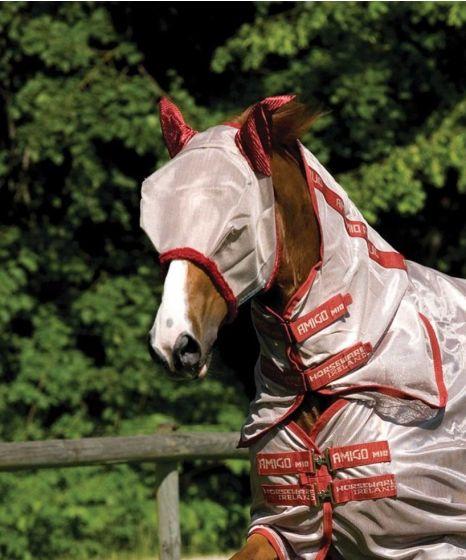 Horseware Amigo Fly Mask Bronze / Red