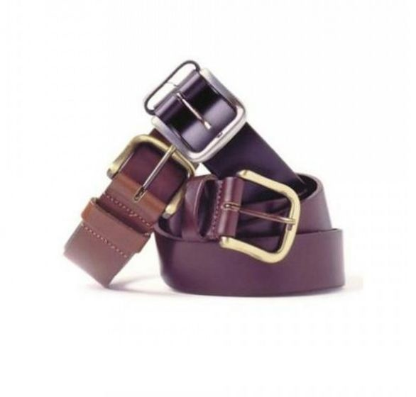 Hoggs of Fife Leather Belt Dark Brown