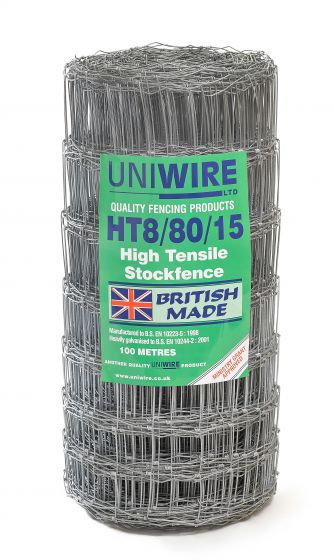 HT8/80/15 High Tensile Stock Fencing 100m