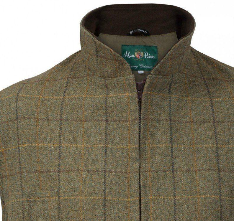 Dark Moss Alan Paine Rutland Tweed Waistcoat -Size Large