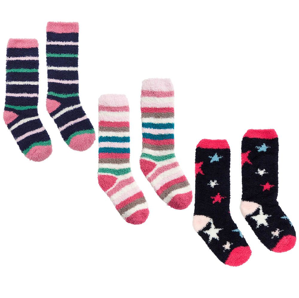 Joules Girls Fluffy Socks