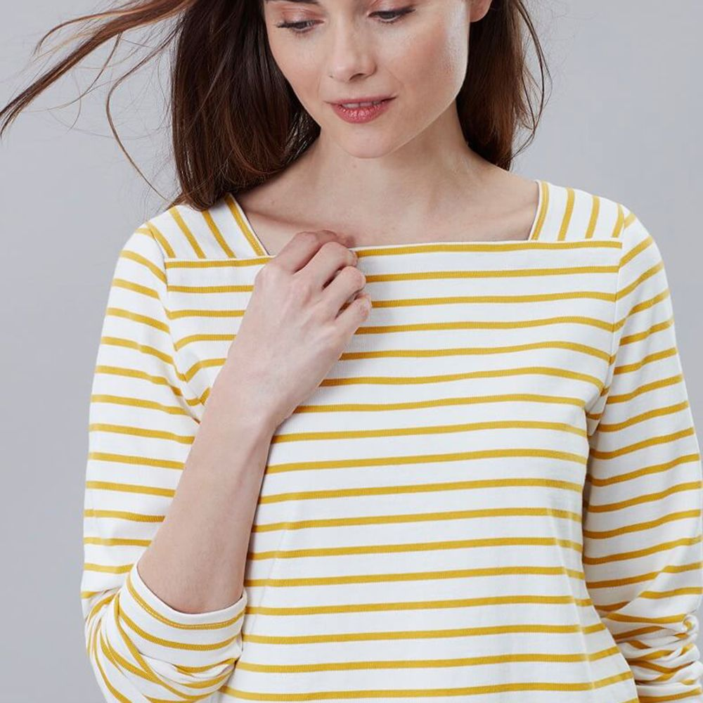 ALL COLOURS Joules Matilde Ladies Square Neck Jersey Top