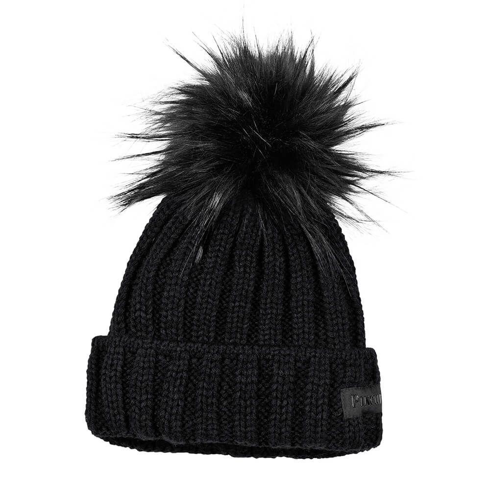 show original title Details about  //%/% Pikeur Hat With Fur Imitation Bobble Knit/%/%