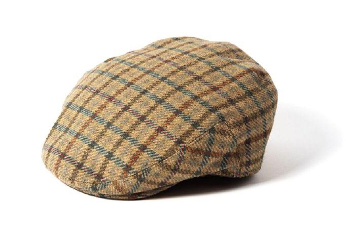 Failsworth Gamekeeper Wool Tweed Cap Beige