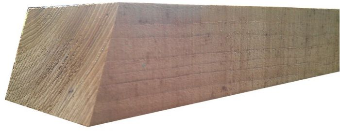 1.8m X 75mm X 125mm 1.W.W Sawn Fence Post