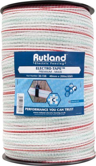 Rutland 40mm Maxi Electro-Tape White