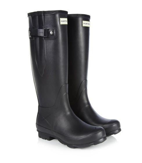 Hunter Womens Norris Field Side Adjustable Wellington Boots Black / Cerise