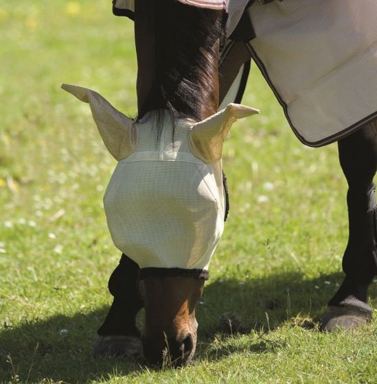 Horseware Amigo Fly Mask Oatmeal / Brown