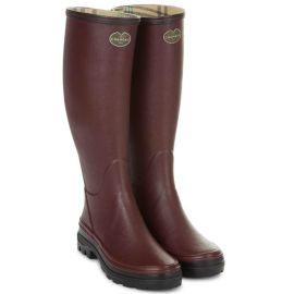 Le Chameau Ladies Giverny Wellington Boots Cherry