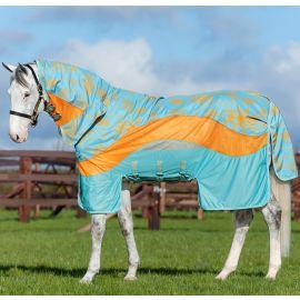 Horseware Amigo 3-In-1 Evolution Fly Rug Aqua/Orange