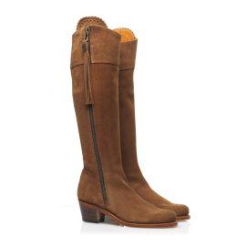 Fairfax & Favor Ladies Heeled Regina Suede Boot Tan