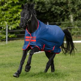 Horseware Mio Lite 0g Lightweight Turnout Rug Dark Blue/Red