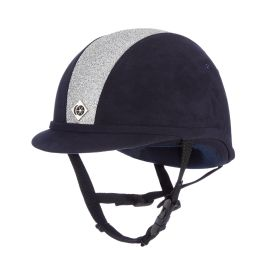 Charles Owen YR8 Sparkle Riding Hat Navy / Silver