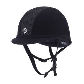 Charles Owen YR8 Sparkle Riding Hat Navy