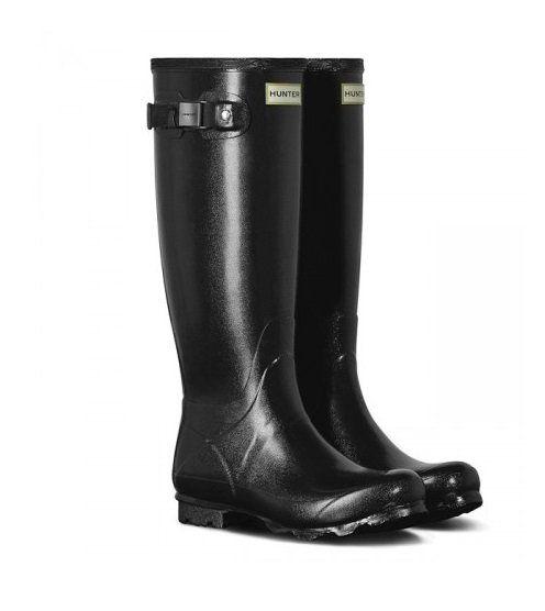 Hunter Womens Norris Field Boot Gloss Black