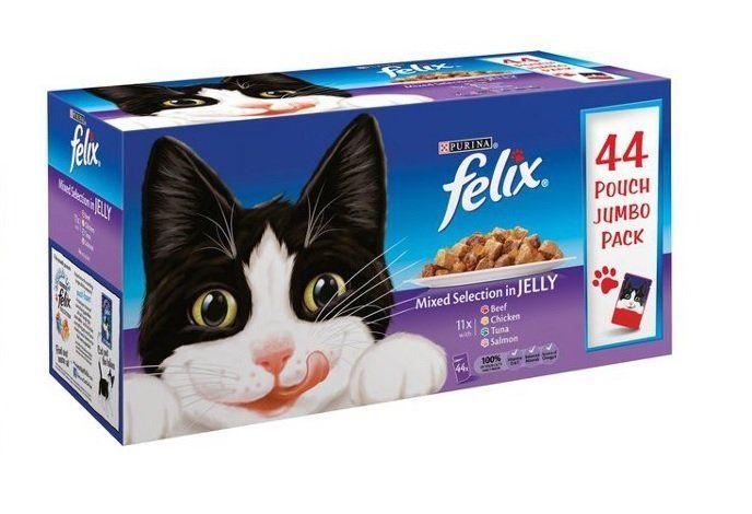 Felix Mixed Variety Pouches Cat Food 44 x 100g