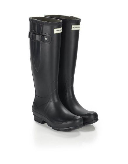 Hunter Norris Field Side Adjustable Wellington Boot Black