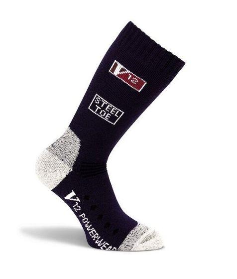 V12 Calf Length Socks Navy VSOK03