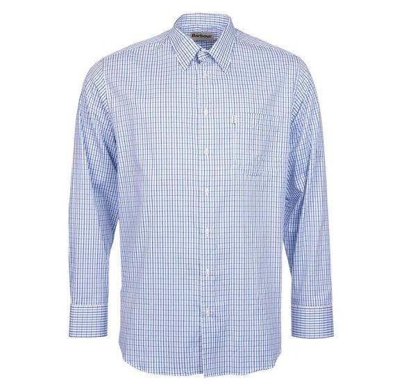 Barbour Mens Cogley Shirt Mid Blue