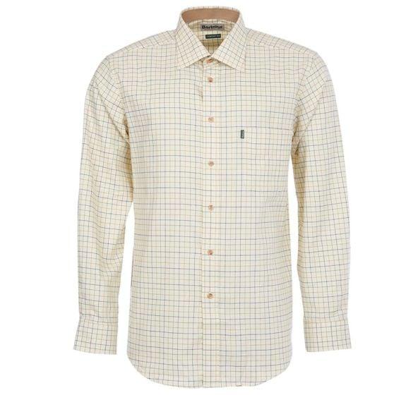 Barbour Mens Field Tattersall Shirt Gold / Blue