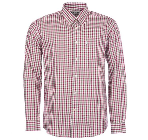 Barbour Mens Lodge Shirt Olive