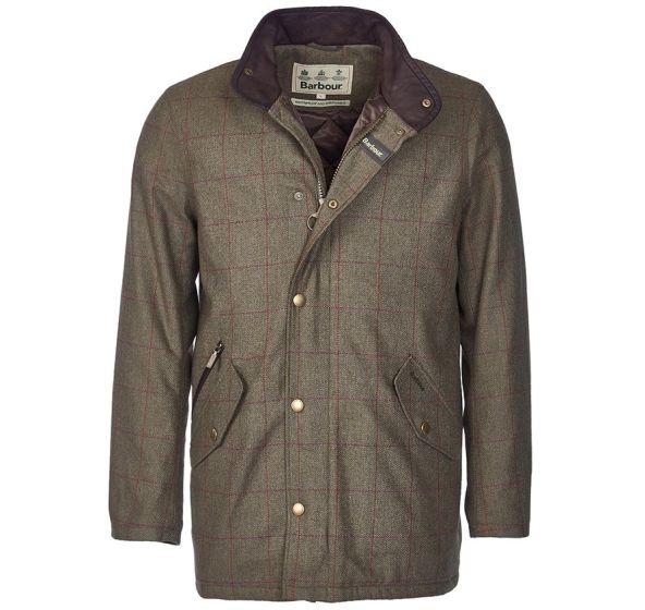 Barbour Mens Tweed Prestbury Jacket Green