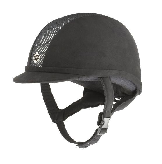 Charles Owen Junior AYR8 Riding Hat Black / Silver