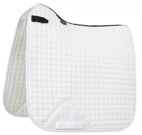 LeMieux ProSport Cotton Dressage Saddle Pad White