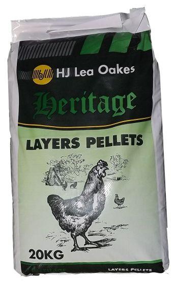 H J Lea Oakes Heritage Layers Pellets 20kg