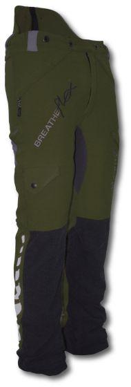 Arbortec Breatheflex Type C Class 1 Chainsaw Trousers Olive Green