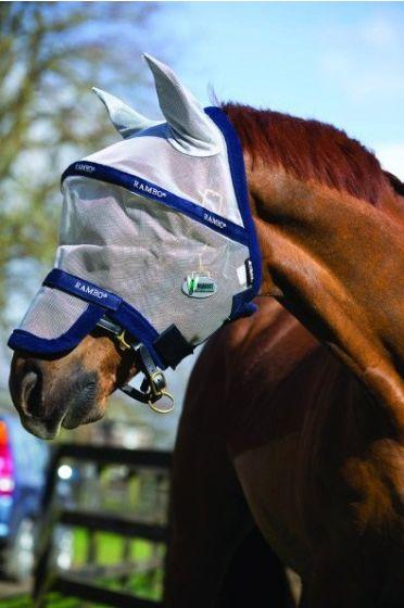 Horseware Rambo Plus Vamoose Fly Mask Oatmeal / Navy