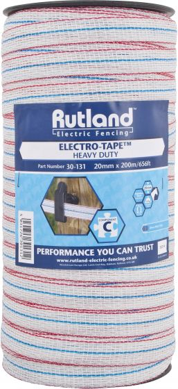 Rutland Electric Fencing 20mm Electro-Tape White