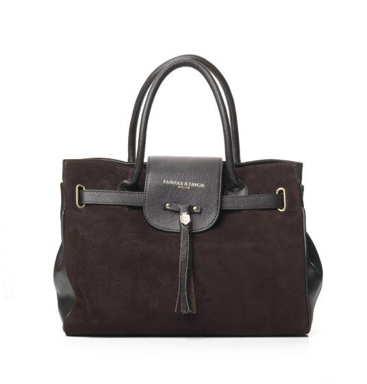 Fairfax & Favor Ladies Windsor Handbag Chocolate